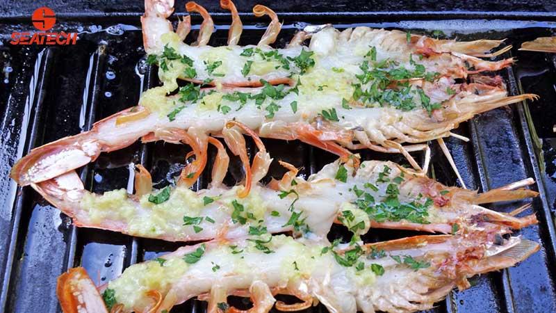 Garlic Butter Grilled Shrimp Argentine Red Shrimp